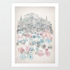 Old Town Bikes Art Print