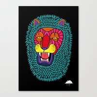 Magic Lion Canvas Print