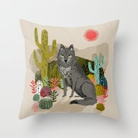 Wolf by Andrea Lauren  Throw Pillow