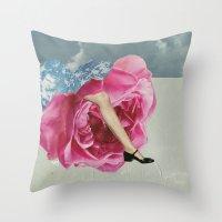 Rose Legs Throw Pillow