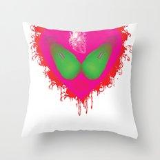 lovebomb-iiis - élan vital ephemeral - in_destruction creation! (blood splatter v) Throw Pillow