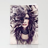 eyes of the same face Stationery Cards