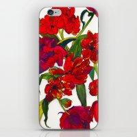 Inky Tulips iPhone & iPod Skin