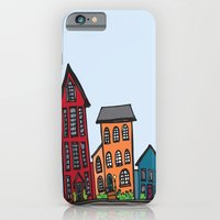 iPhone & iPod Case featuring TownHouses by LaPetiteJo