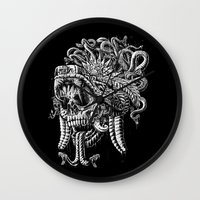 Serpent Warrior Wall Clock