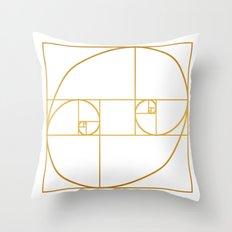 Golden Oval Throw Pillow