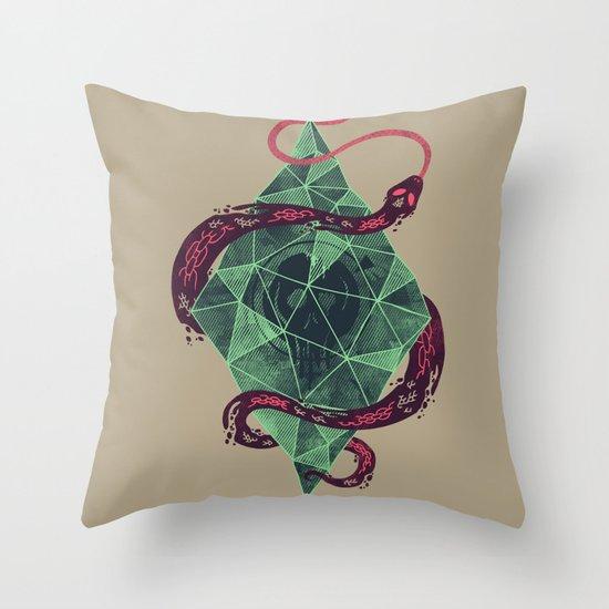 Mystic Crystal Throw Pillow
