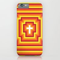 iPhone & iPod Case featuring Technicolour Cross - Orange by Stefan Trudeau