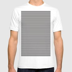 Stripes. Mens Fitted Tee SMALL White