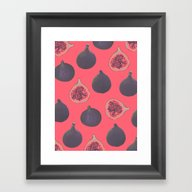 Fig Pattern Framed Art Print