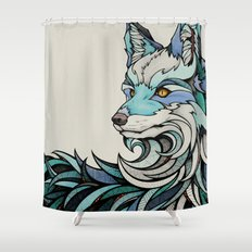 Berlin Fox Shower Curtain