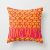 OMGWTF Throw Pillow