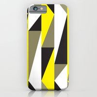 Yellow & black triangle pattern iPhone 6 Slim Case