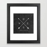 East & West Framed Art Print