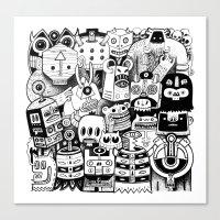 jour d'ironie au pays des masques Canvas Print