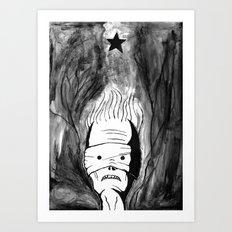 Lazarus 1 - Bowie Blackstar tribute - version Art Print