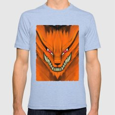 Kyubi Nine Tails Mens Fitted Tee Tri-Blue SMALL