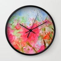 Le Jardin Coral Wall Clock