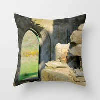 Tower Ruins Throw Pillow