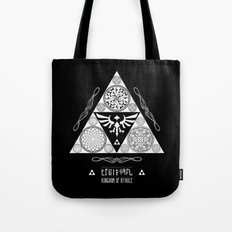 Legend of Zelda Kingdom of Hyrule Crest Letterpress Vector Art Tote Bag