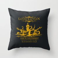 Lovecraftian Whiskey Throw Pillow