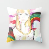 La fille de Siren Throw Pillow