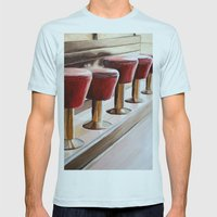 OK OK Diner Mens Fitted Tee Light Blue SMALL