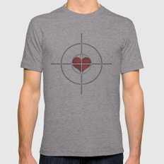 Shot Through The Heart Mens Fitted Tee Athletic Grey SMALL