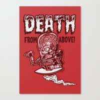 Death From Above (Red) Canvas Print