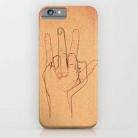 iPhone & iPod Case featuring Love and Hate by Cisternas