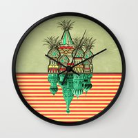 Pineapple architecture  Wall Clock