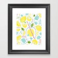 Summer Sippin' Framed Art Print