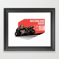 Massimiliano Biaggi - 1994 Brno Framed Art Print