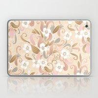 Floral curve pattern, rose gold Laptop & iPad Skin