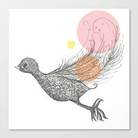 Bird With Own Feather Canvas Print
