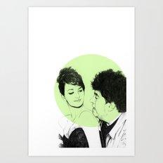 Pedro Almodovar and Penelope Cruz Art Print