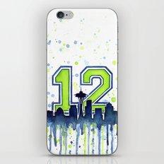 Seahawks 12th Man Fan Art iPhone & iPod Skin