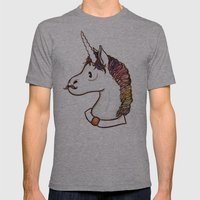 Doctor Unicorn Mens Fitted Tee Athletic Grey SMALL