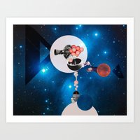 Space Flight Art Print