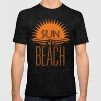 Sun of a Beach Mens Fitted Tee Tri-Black SMALL