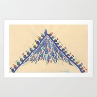Pilgrimage, Distant Moun… Art Print