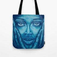 Look At Me-blue Tote Bag