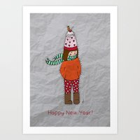 New Year Girl!  Art Print