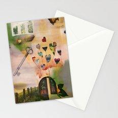 Hearts Door Stationery Cards