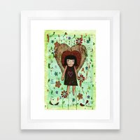 Broken girl Framed Art Print