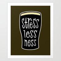 a pint of stout: stresslessness Art Print