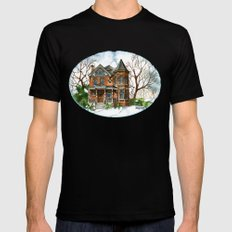 Victorian Winter SMALL Mens Fitted Tee Black