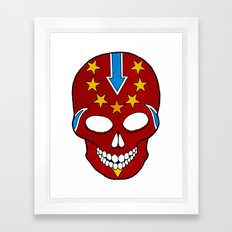 Knievel Skull Framed Art Print