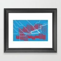 Chicago EL Train Framed Art Print