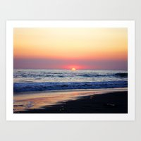 Sunset at Manuel Antonio Art Print